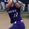 Keystone's Brooke Piazza watches her home run clear the outfield fence  against Perry. Randy Meyers -- The Morning Journal