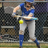 Midview's Sara Liszeski attempts to lay down a bunt. Eric Bonzar — The Morning Journal
