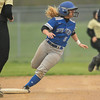Midview's Hannah Taulbee rounds second base. Eric Bonzar — The Morning Journal