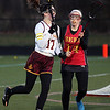 Kerry Gray of Avon Lake runs the ball past Rachael Gordon of Brecksville- Broadview Heights near the goal. Randy Meyers -- The Morning Journal
