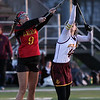 Avon Lake's Sarah Lucas faces off with Carli Lapierre of Brecksville - Broadview Heights at center field. Randy Meyers -- The Morning Journal