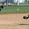 Vermilion shortstop Cali Brown starts a double play with a toss to Maria Keller at second against Lorain during the second game of a doubleheader. Randy Meyers -- The Morning Journal