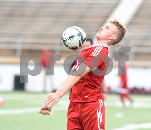 Kilgore High School's Spencer Stegall stops the ball during their U.I.L. Region II Class 4-A tournament game against Henderson Saturday April 9, 2016 at Trinity Mother Frances Rose Stadium in Tyler.   (Sarah A. Miller/Tyler Morning Telegraph)