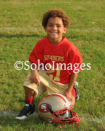 49er's Flag Football Portraits 2015
