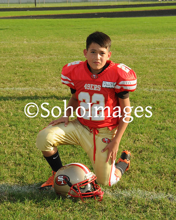 49er's Midget Football Portraits 2015