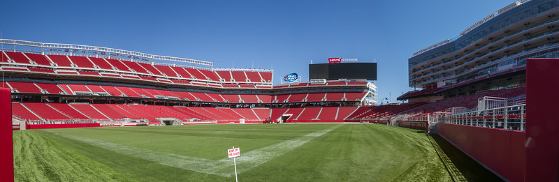 This is a field-level view of the Stadium - where the visiting team takes the field.
