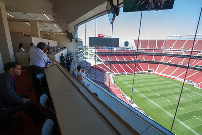 The Press Box - a fantastic view of the playing field.