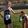 "Kelley Robinson (57) of Nederland wins the 2A cross country regionals in Lyons on Thursday. Melissa Roberts of Lyons, right, was second.<br /> For more photos of the races, go to  <a href=""http://www.dailycamera.com"">http://www.dailycamera.com</a><br /> Cliff Grassmick / October 21, 2010"