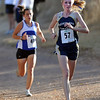"Kelley Robinson (57) of Nederland wins the 2A cross country regionals in Lyons on Thursday. Melissa Roberts of Lyons, left, was second.<br /> For more photos of the races, go to  <a href=""http://www.dailycamera.com"">http://www.dailycamera.com</a><br /> Cliff Grassmick / October 21, 2010"