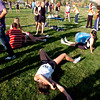 "Runners collapse after finishing the regional cross country races in Lyons.<br /> For more photos of the races, go to  <a href=""http://www.dailycamera.com"">http://www.dailycamera.com</a><br /> Cliff Grassmick / October 21, 2010"