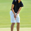 Silver Creek High School's Andrew Rademacher-Howe follows a putt at the 4A Northern Regionals at the Indian Peaks Golf Course on Wednesday September 19, 2012. <br /> Photo by Paul Aiken