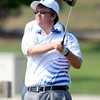 Longmont High School's Seth Dykema follows a drive at the<br /> 4A Northern Regionals at the Indian Peaks Golf Course on Wednesday September 19, 2012. <br /> Photo by Paul Aiken