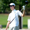 Niwot High School's Luke Toillion follows a drive at the <br /> 4A Northern Regionals at the Indian Peaks Golf Course on Wednesday September 19, 2012. <br /> Photo by Paul Aiken