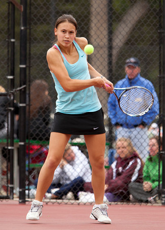 Centarus 1Singles:<br /> Glenna Gee-Taylor during the 4A State Tennis Girls Championships at Pueblo City Park on Friday May 11, 2012<br /> All photos by Steve Bigley / For the Camera