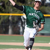 Elyria Catholic's Andrew Abrahamowicz delivers a pitch against Lutheran West. Randy Meyers -- The Morning Journal