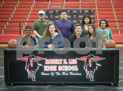 Robert E. Lee High School graduate Korbin Casey signed his letter of intent to play collegiate basketball on Wednesday May 16, 2018. Casey will play at Southwest Collegiate Institute for the Deaf. Casey played basketball at REL with assistance from a sign language interpreter.   (Sarah A. Miller/Tyler Morning Telegraph)