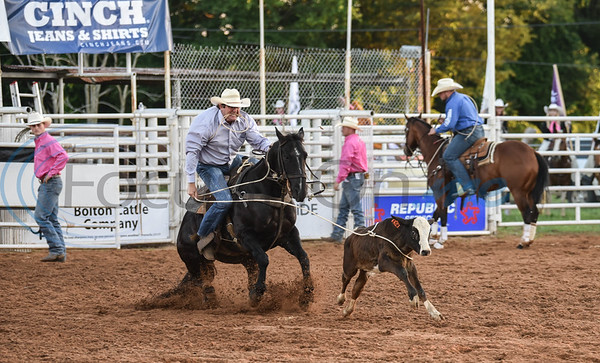 Justin Pannell of Mt Enterprise, Texas throws his rope during the calf roping event at the 57th TOPS in Texas Rodeo. The three-night event started on Thursday, May 16 and went through Sunday in Jacksonville.  (Jessica T. Payne/Tyler Morning Telegraph)