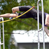 Boulder's Mackenzie Felkley fails to clear the bar in the pole vault during the 2012 State Track and Field Championships in Lakewood, Colorado May 17, 2012. CAMERA/ MARK Leffingwell