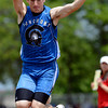 Longmont's Braden Hitchcock competes in the triple jump Thursday May 17, 2012 during the State Track and Field Championship in Lakewood. (Lewis Geyer/Times-Call)