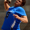 Longmont's Marcus Johnson competes in the 4A Boys' shot put Thursday May 17, 2012 during the State Track and Field Championship in Lakewood. (Lewis Geyer/Times-Call)