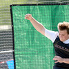 Boulder's Hans Lehndorff release the discus during the 2012 State Track and Field Championships in Lakewood, Colorado May 17, 2012. CAMERA/ MARK Leffingwell