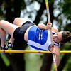 Lyons' Amber Boyington clears 8 feet in the pole vault during the second day of the State Track and Field Championships in Lakewood, Colorado May 18, 2012. CAMERA/ MARK Leffingwell