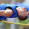 Longmont High School's Josh Cogdill in the boys 4A high jump during the 2012 State Track and Field Championships Friday, May 18, 2012 at Jeffco Stadium in Lakewood.<br /> (Matthew Jonas/Times-Call)