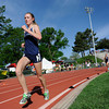 Nederland High School's Kelley Robinson rounds a corner of the girls 2A 3200 run during the 2012 State Track and Field Championships Friday, May 18, 2012 at Jeffco Stadium in Lakewood.<br /> (Matthew Jonas/Times-Call)