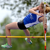 Lyons' Victoria Arling clears 8 feet in the pole vault during the second day of the State Track and Field Championships in Lakewood, Colorado May 18, 2012. CAMERA/ MARK Leffingwell