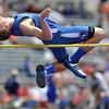 Longmont High School's Josh Cogdill clears the bar in the boys 4A high jump during the 2012 State Track and Field Championships Friday, May 18, 2012 at Jeffco Stadium in Lakewood.<br /> (Matthew Jonas/Times-Call)