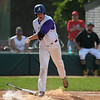 Avon's lefty pitcher Logan Doenges slams his bat to the ground after being hit by a pitch from Amherst's Xavier Moore. The pitch, which hit Doenges in his left elbow, was the second thrown by Moore to hit the Avon senior. Eric Bonzar — The Morning Journal