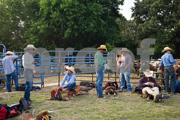 Competitors prepare for the 30th annual Lindale Championship Rodeo in Lindale, Texas, on Thursday, May 18, 2017. The rodeo featured everything from cattle roping and mutton busting to bull riding and calf scrambles. (Chelsea Purgahn/Tyler Morning Telegraph)