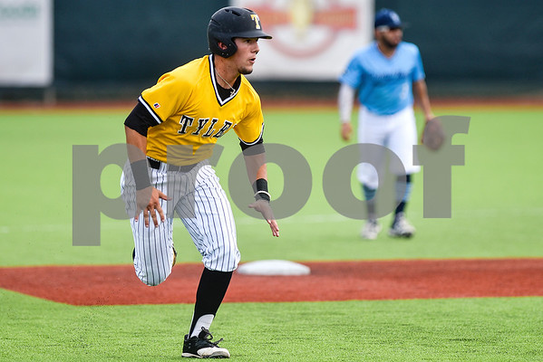 Tyler Junior College's Taylor Broadway runs to third base during the District C tournament at Mike Carter Field in Tyler, Texas, on Thursday, May 18, 2017. (Chelsea Purgahn/Tyler Morning Telegraph)