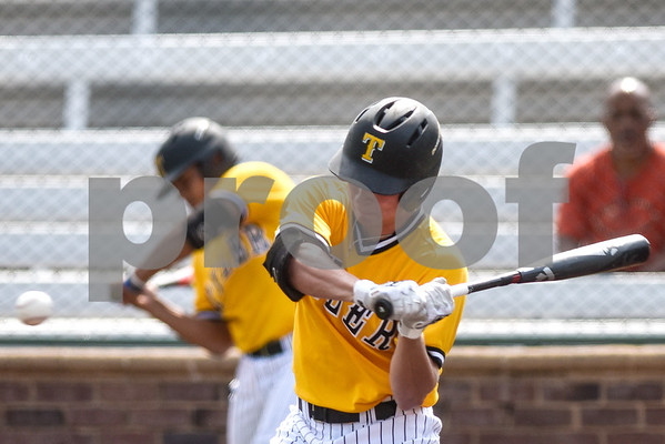 Tyler Junior College's Braden Wise swings during the District C tournament at Mike Carter Field in Tyler, Texas, on Thursday, May 18, 2017. (Chelsea Purgahn/Tyler Morning Telegraph)
