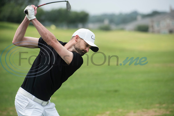 Ryan Teague of Bullard practices on the driving range at the Jacky Cupit Legends for Life Golf Tournament at The Cascades Golf & Country Club in Tyler on May 20, 2019. The event benefitted the Cancer Foundation For Life and the Fitsteps for Life program.  (Sarah A. Miller/Tyler Morning Telegraph)