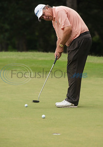Bob Shields of Tyler practices putting at the Jacky Cupit Legends for Life Golf Tournament at The Cascades Golf & Country Club in Tyler on May 20, 2019. The event benefitted the Cancer Foundation For Life and the Fitsteps for Life program.  (Sarah A. Miller/Tyler Morning Telegraph)