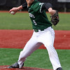 Elyria Catholic starting pitcher Andrew Abrahamowicz delivers a pitch against Bay. Randy Meyers -- The Morning Journal
