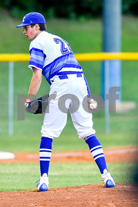 Grace Community's Blake Hubbard (21) prepares to pitch during a high school playoff game at Grace Community School in Tyler, Texas, on Thursday, May 4, 2017. (Chelsea Purgahn/Tyler Morning Telegraph)