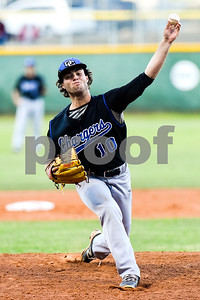 Dallas Christian's Hayden Clark (10) pitches during a high school playoff game at Grace Community School in Tyler, Texas, on Thursday, May 4, 2017. (Chelsea Purgahn/Tyler Morning Telegraph)