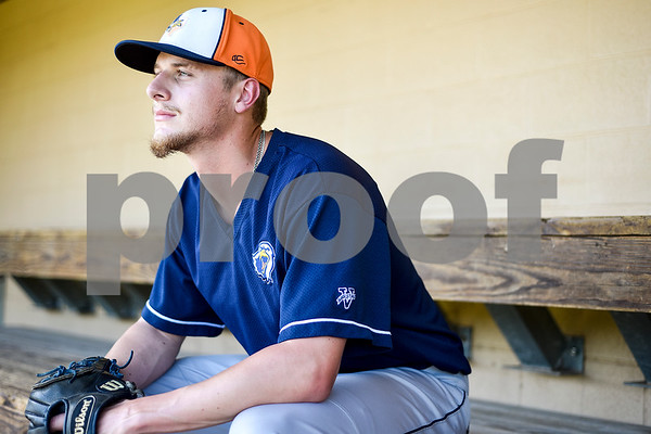 Senior pitcher Reese Read poses for a portrait during a media day for The University of Texas at Tyler baseball team at Irwin Field in Tyler, Texas, on Tuesday, May 2, 2017. (Chelsea Purgahn/Tyler Morning Telegraph)