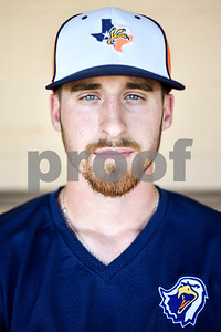 Junior pitcher Ryan Cheatham poses for a portrait during a media day for The University of Texas at Tyler baseball team at Irwin Field in Tyler, Texas, on Tuesday, May 2, 2017. (Chelsea Purgahn/Tyler Morning Telegraph)