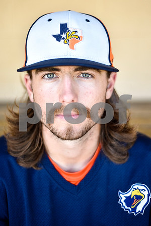 Senior pitcher Cason Adams poses for a portrait during a media day for The University of Texas at Tyler baseball team at Irwin Field in Tyler, Texas, on Tuesday, May 2, 2017. (Chelsea Purgahn/Tyler Morning Telegraph)