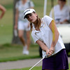 Skyline's Adara Pauluhn chips on to the second green during the final round of the State Golf Championship in Aurora, Colorado May 22, 2012. CAMERA/MARK LEFFINGWELL