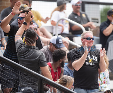 Texas Lutheran University fans celebrate multiple runs in the third inning during their game against Emory University on Monday May 27, 2019 in the NCAA Division III Softball Championship at Suddenlink Field in Tyler.   (Sarah A. Miller/Tyler Morning Telegraph)