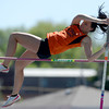 Erie's Taryn Lee clears the vault during the St. Vrain Invitational Longmont, Colorado May 4, 2012. BOULDER DAILY CAMERA/MARK LEFFINGWELL