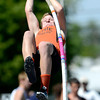 Erie's Ladd Bunker pole vaults during the St. Vrain Invitational Longmont, Colorado May 4, 2012. BOULDER DAILY CAMERA/MARK LEFFINGWELL