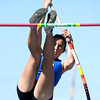 Rebecca Rosenblum vaults in the pole vault event during the St. Vrain Invitational Longmont, Colorado May 4, 2012. BOULDER DAILY CAMERA/MARK LEFFINGWELL