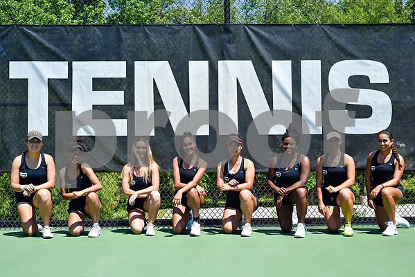 The Tyler Junior College womens tennis team poses for a photo at JoAnn Medlock Murphy Tennis Center in Tyler, Texas, on Thursday, May 4, 2017. The team will be heading to nationals in Tuscon, Arizona. (Chelsea Purgahn/Tyler Morning Telegraph)