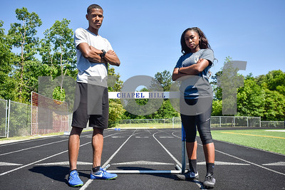 Malik Sellers and MyKaela Alfred pose for a portrait at Chapel Hill High School in Tyler, Texas, on Friday, May 5, 2017. Will be competing in at state in Austin, Texas. (Chelsea Purgahn/Tyler Morning Telegraph)