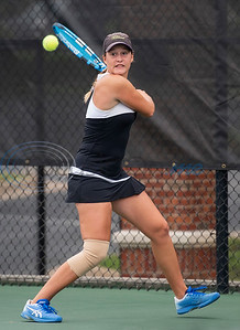 Anastasiya Salenko of St. Petersburg College competes in the NJCAA Tennis Tournament at the JoAnn Medlock Murphy Tennis Center at Tyler Junior College on Tuesday May 7, 2019.  (Sarah A. Miller/Tyler Morning Telegraph)